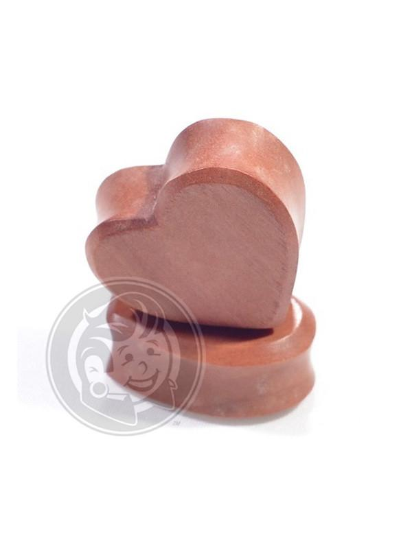 Cherry Wood Heart Shaped Wood Plugs - Plugyourholes.com