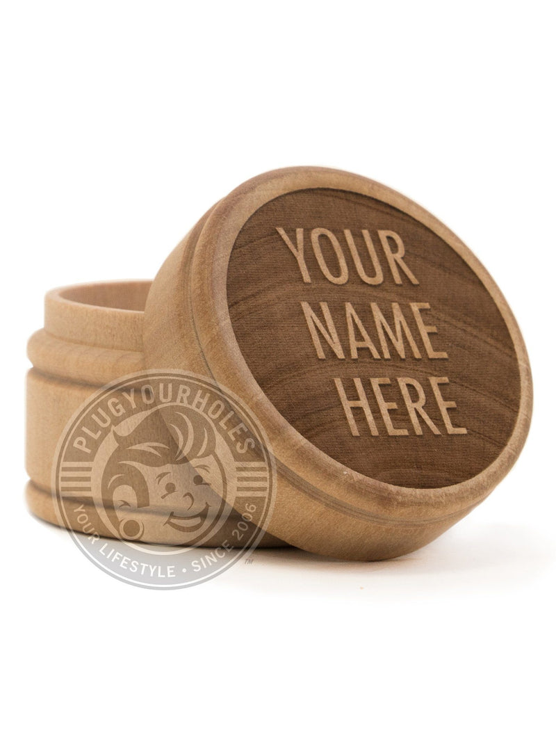 Custom Phrase Engraved Plug Box