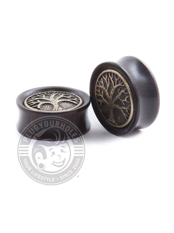 Antique Tree Ebony Wood Plugs - Plugyourholes.com