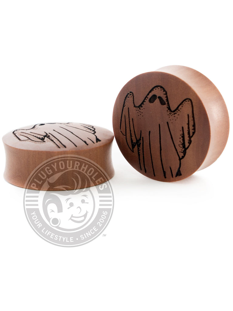 Ghost - Engraved Wood Plugs