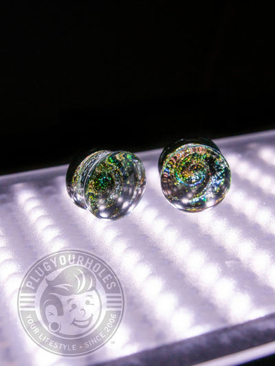 Galaxy Pyrex Glass Plugs