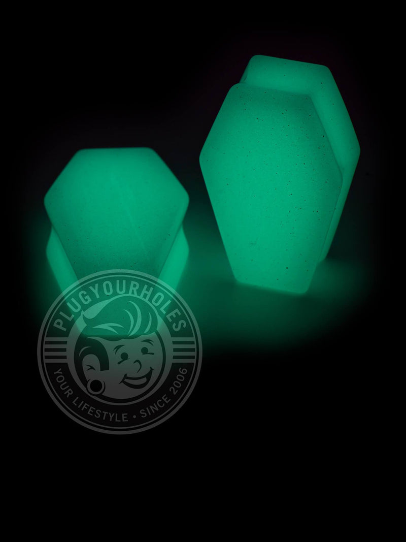 Glow Coffin Cut Stone Plugs