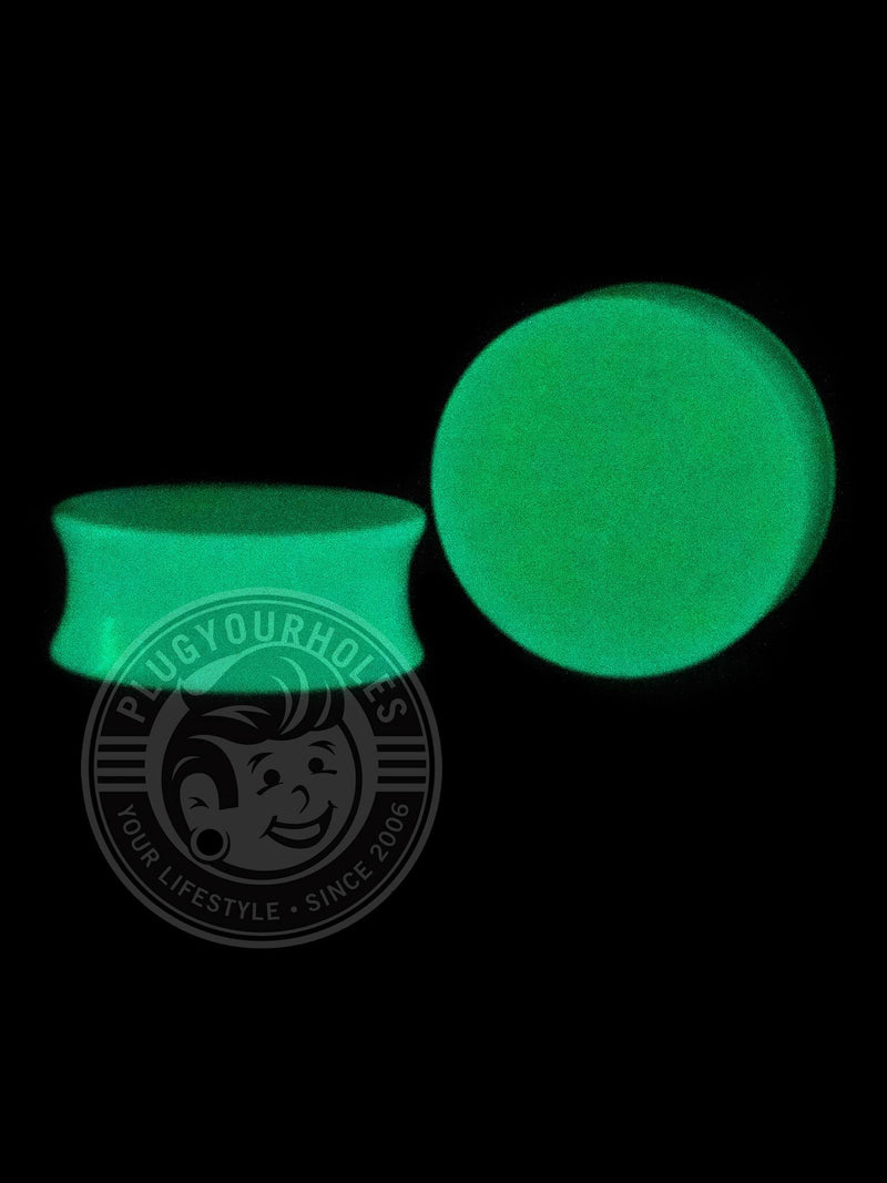 Glow in the Dark Neon Blue Acrylic Plugs
