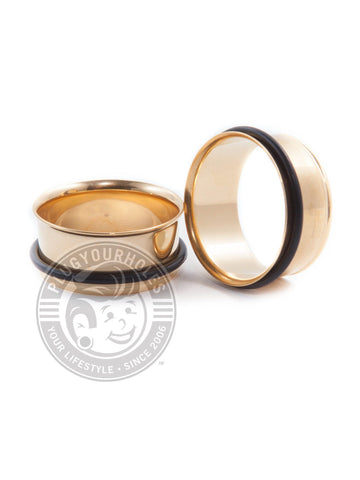 Gold Single Flared Steel Tunnels