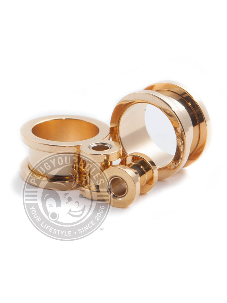 Gold Threaded Steel Tunnels
