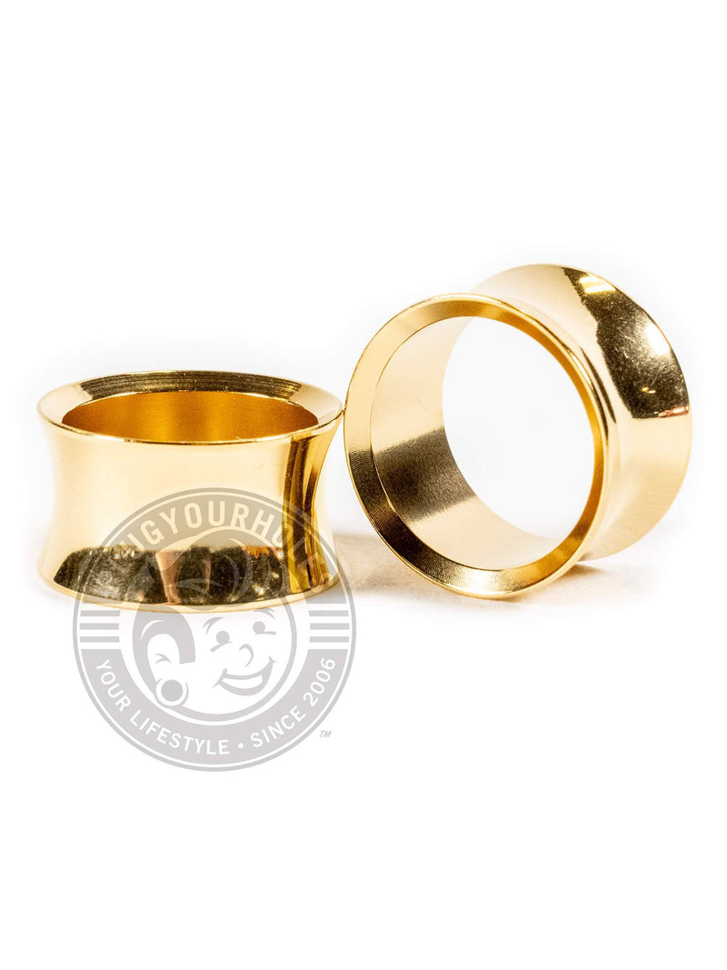 Gold Double Flared Saddle Steel Tunnels