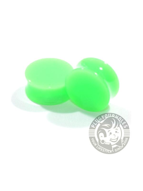 Green Acrylic Plugs - Plug Your Holes - Your Lifestyle, Since 2006.