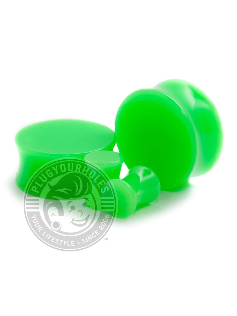 Green Acrylic Plugs