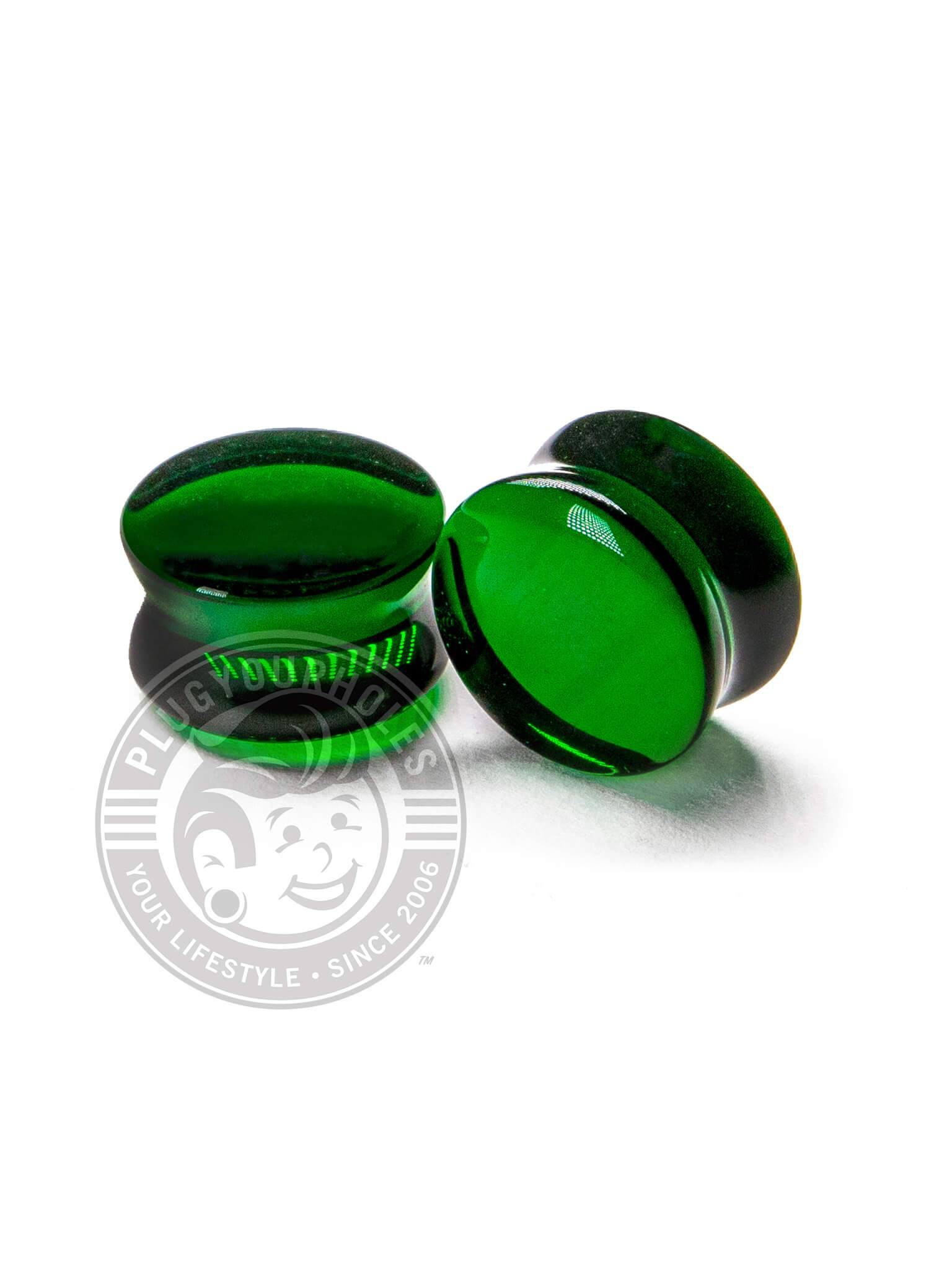 Green Bottle Glass Plugs