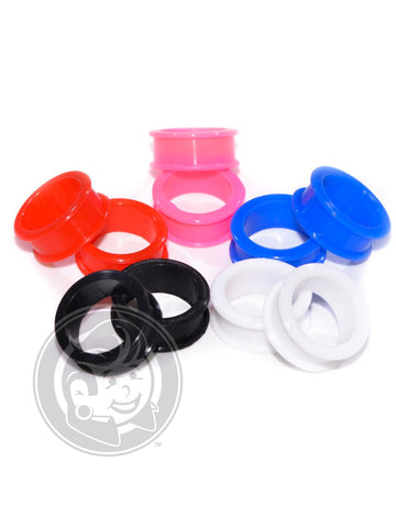 5 Pairs - 5 Colors of Silicone Tunnels - Plugyourholes.com