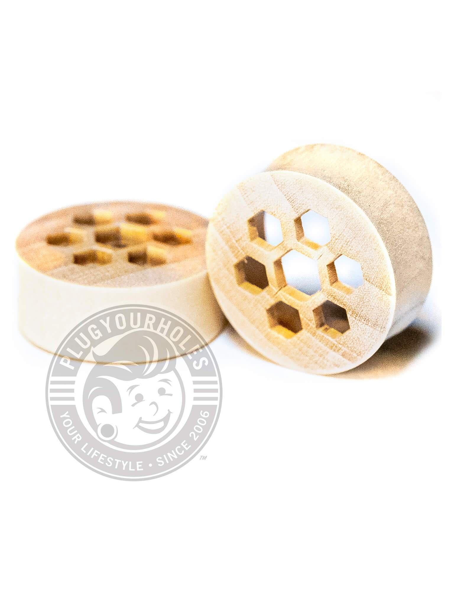 Honeycomb Crocodile Wood Plugs