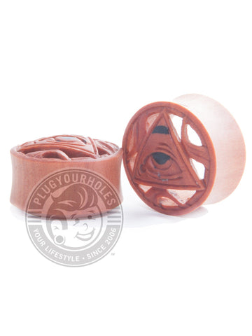 Illuminati Carved Sawo Wood Plugs