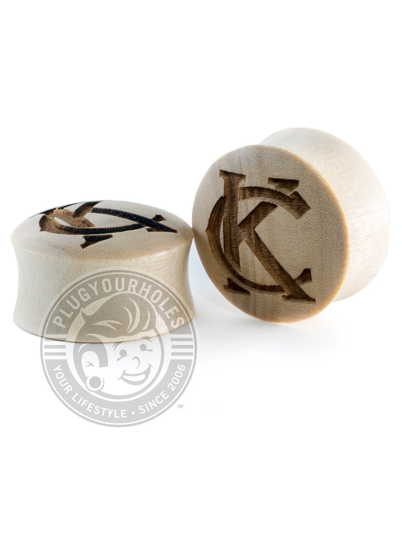 KC Monogram - Kansas City Engraved Wood Plugs