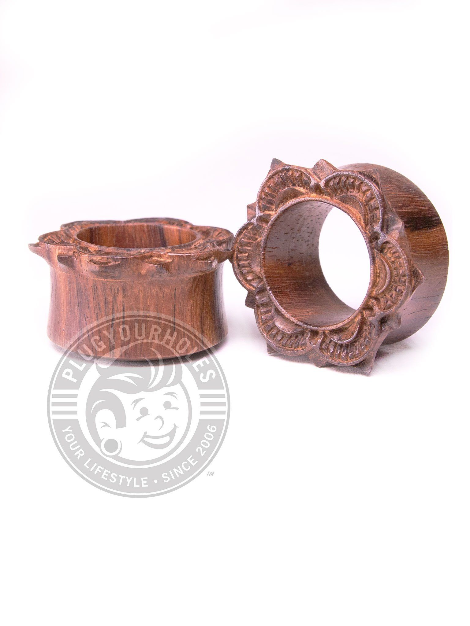 Mandala Carved Sono Wood Tunnels
