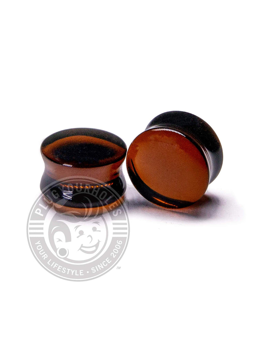 Brown Bottle Glass Plugs