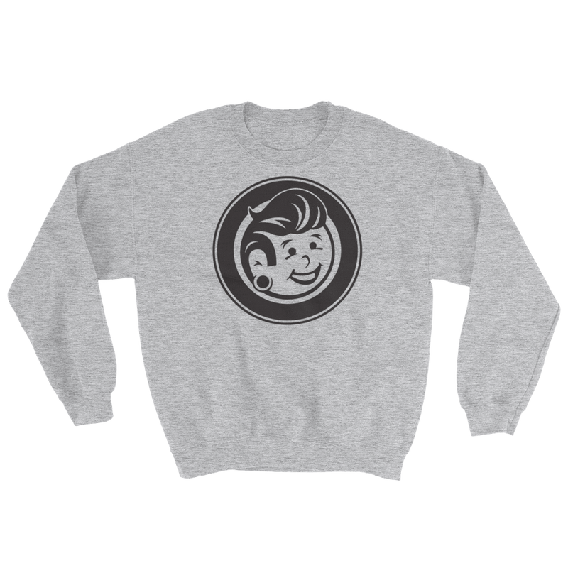 Plug Boy Circle - Grey - Unisex Crewneck Sweatshirt