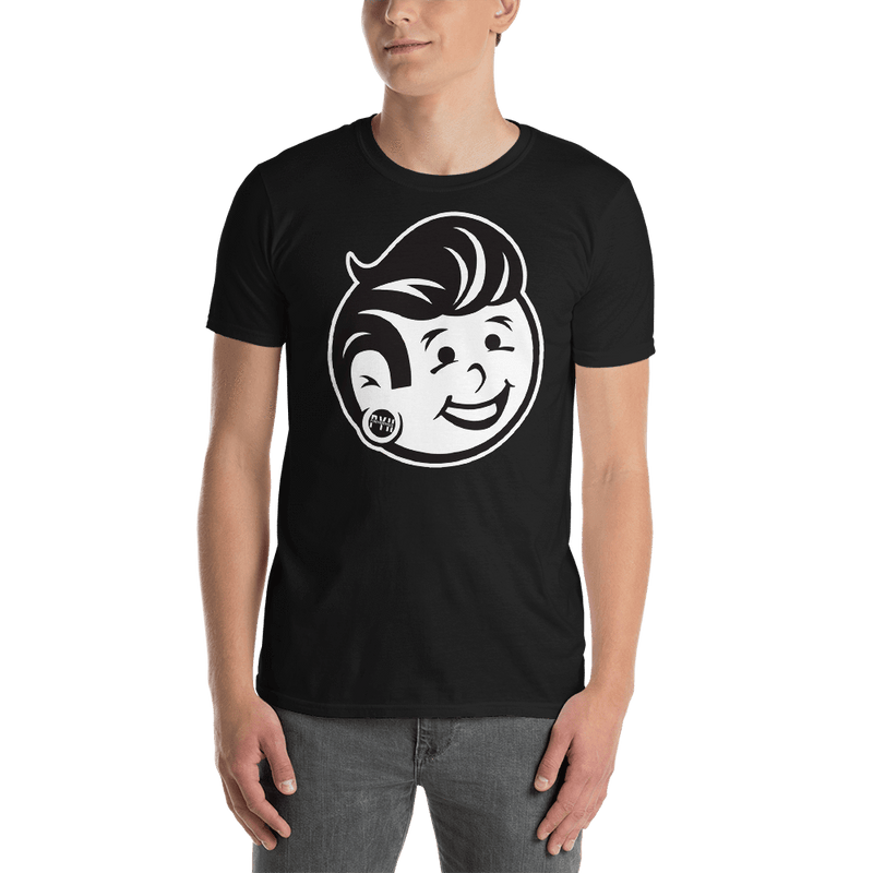 Plug Boy Head - Black - Basic Unisex Tee