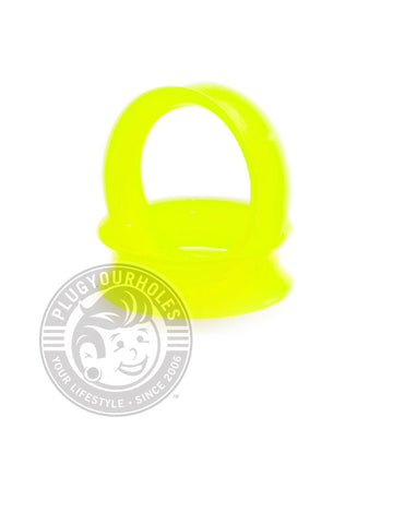 Neon Yellow Green Silicone Ear Skins - Plugyourholes.com