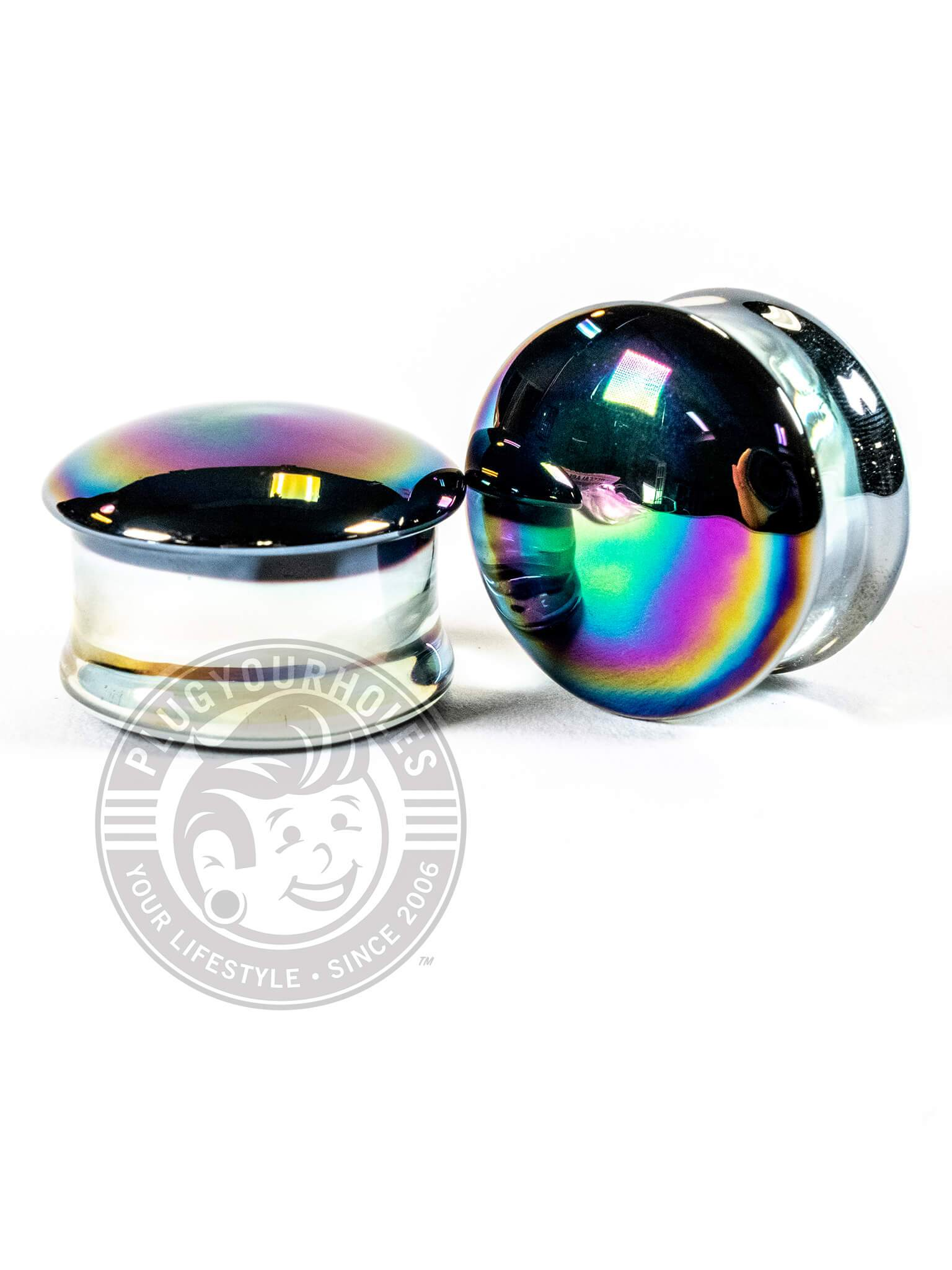 Aurora Double Flared Glass Plugs
