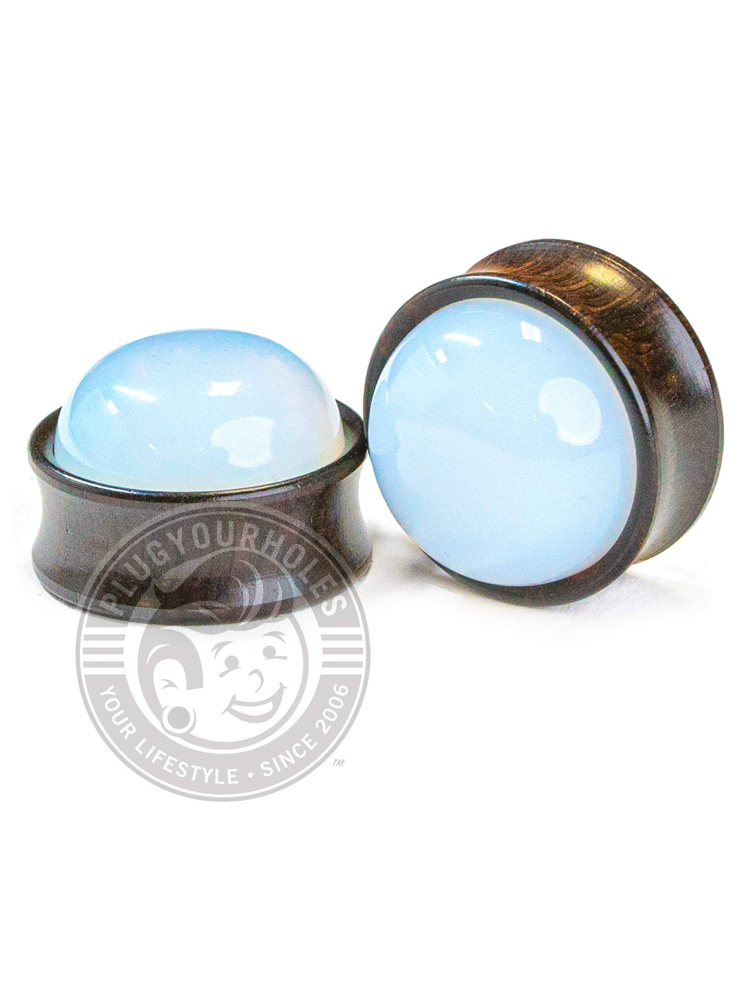 Opal Inlay Sono Wood Plugs