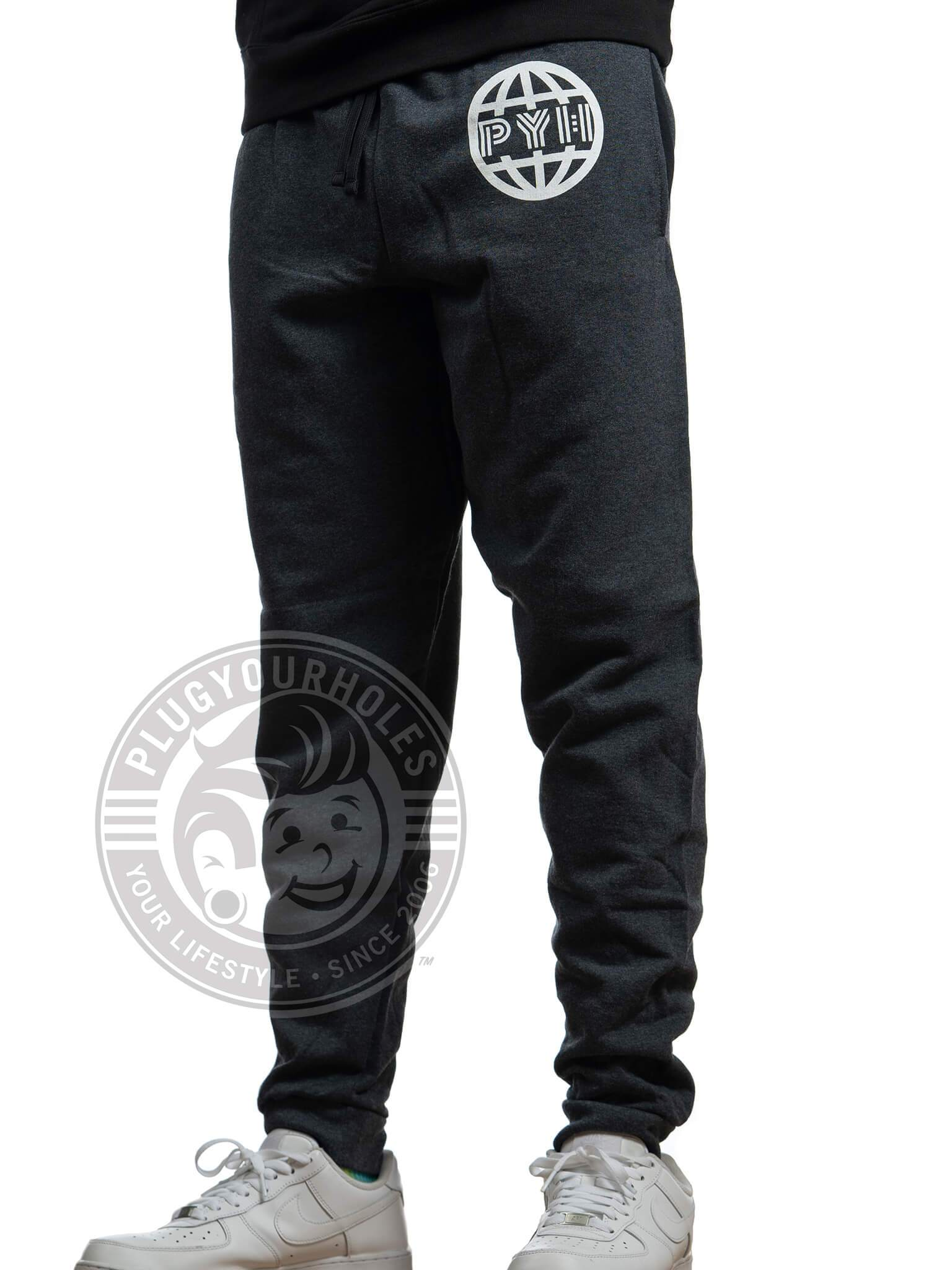 PYH Globe - Black Heather - Unisex Joggers