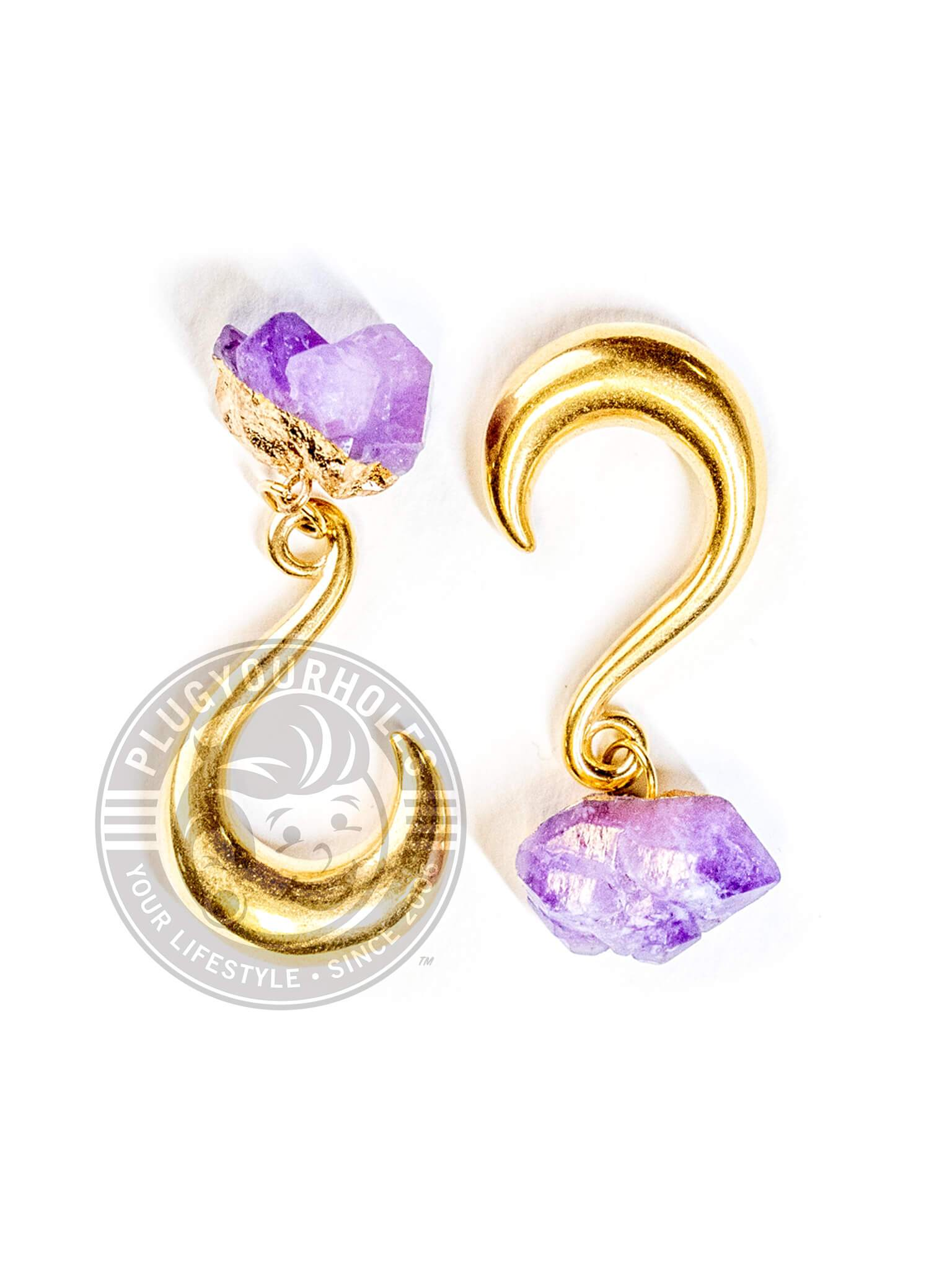 Purple Stone Gold Hook Hangers