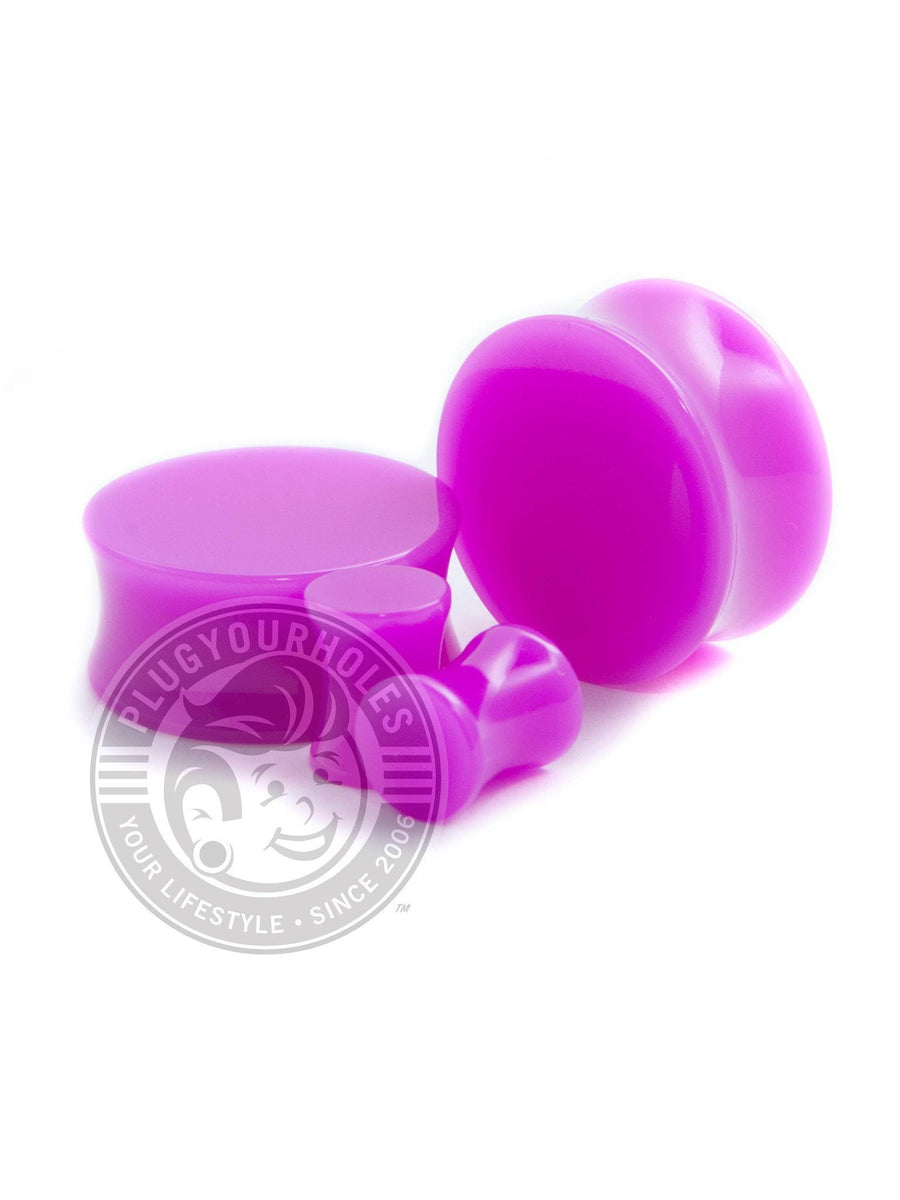 Purple Acrylic Plugs
