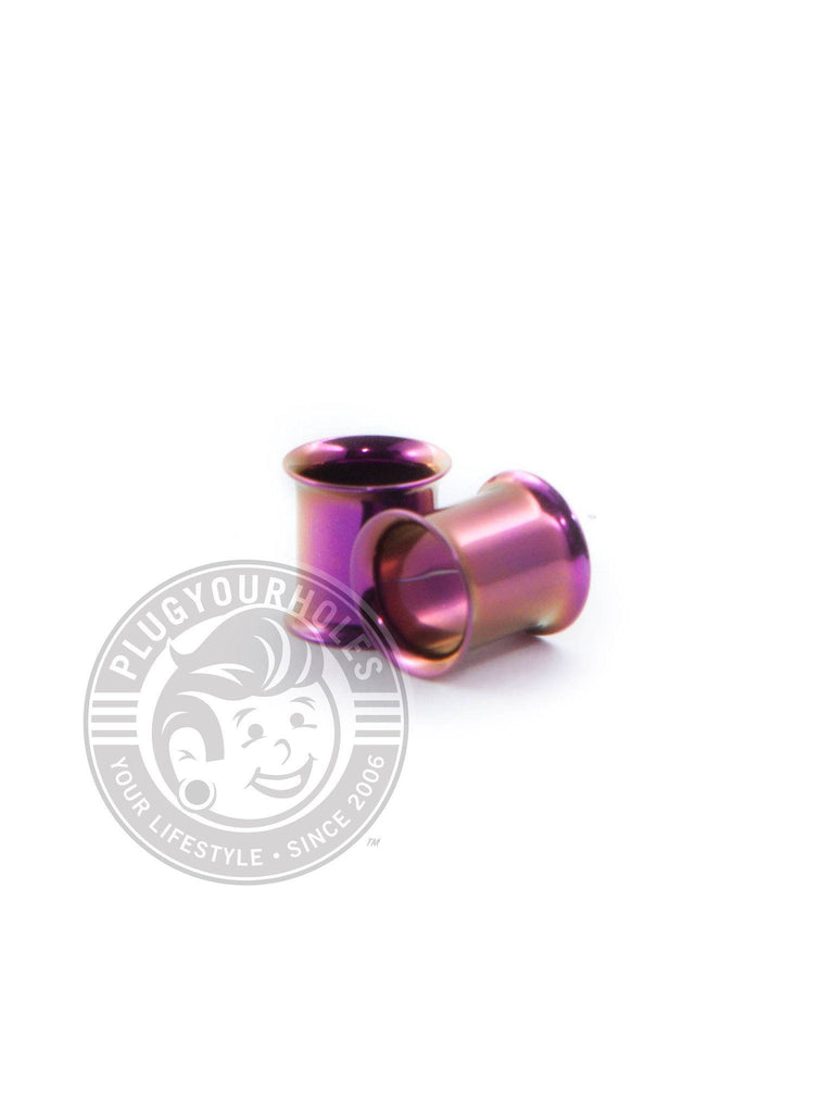 Purple Double Flared Steel Tunnels