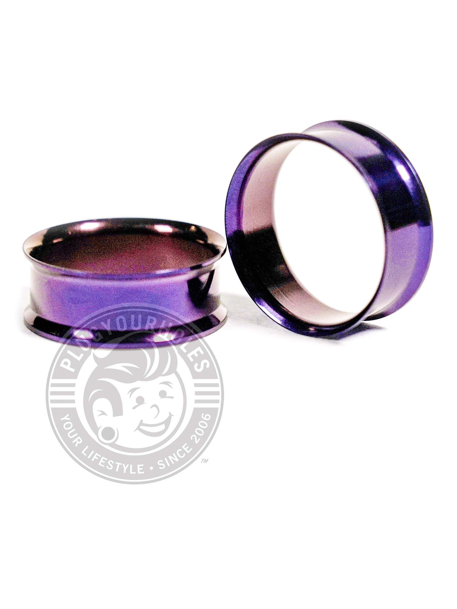 Deep Purple Double Flared Steel Tunnels