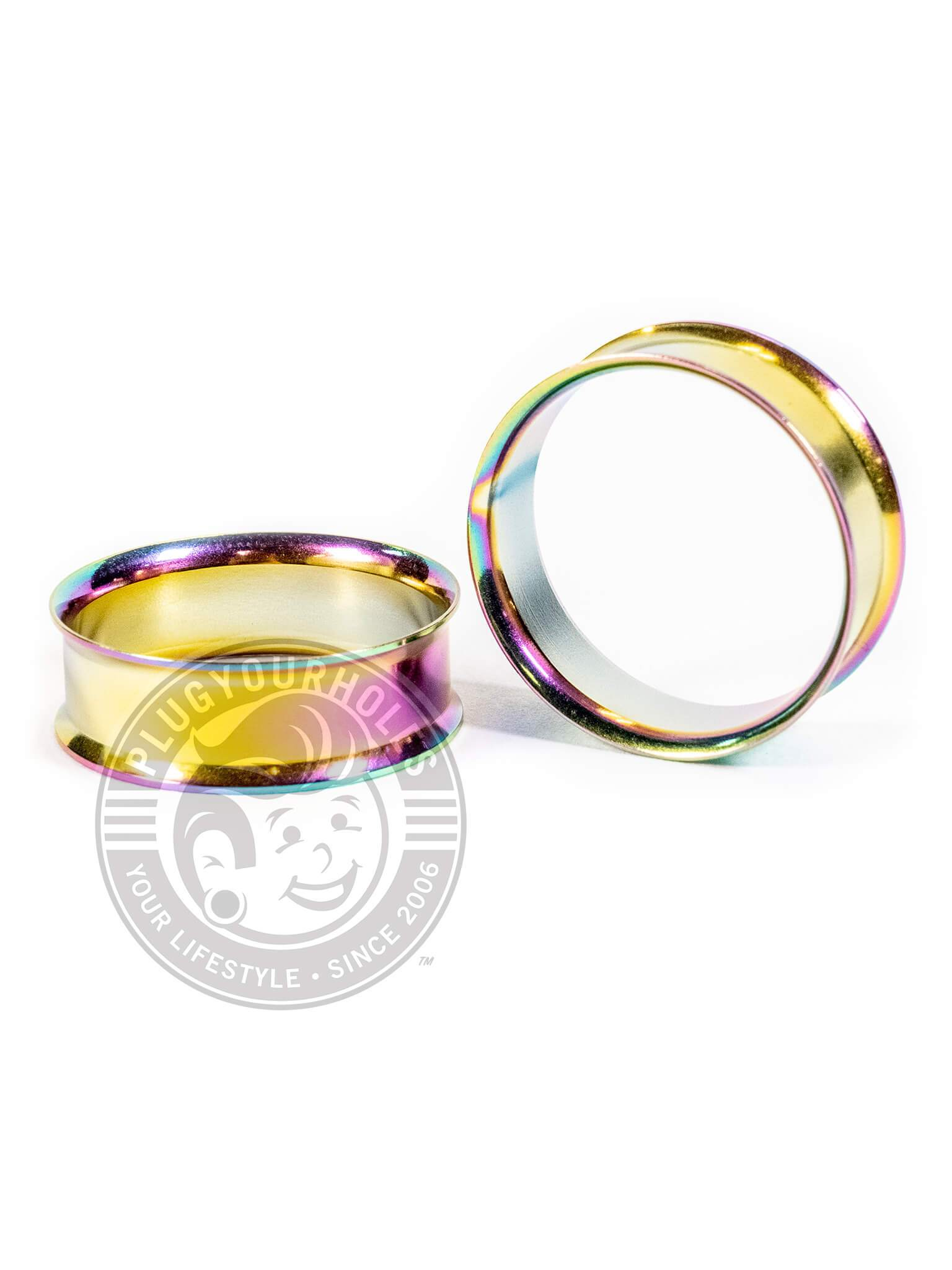 Oil Slick Double Flared Steel Tunnels