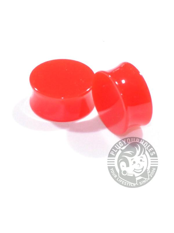 Red Acrylic Plugs - Plug Your Holes - Your Lifestyle, Since 2006.