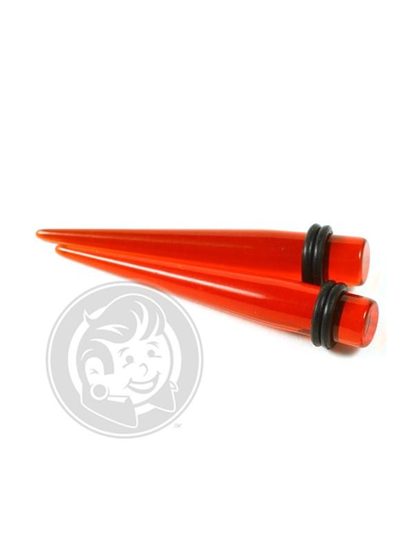 Red Acrylic Tapers - Plugyourholes.com