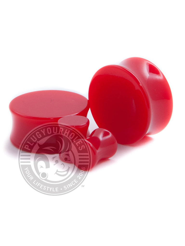 Red Acrylic Plugs