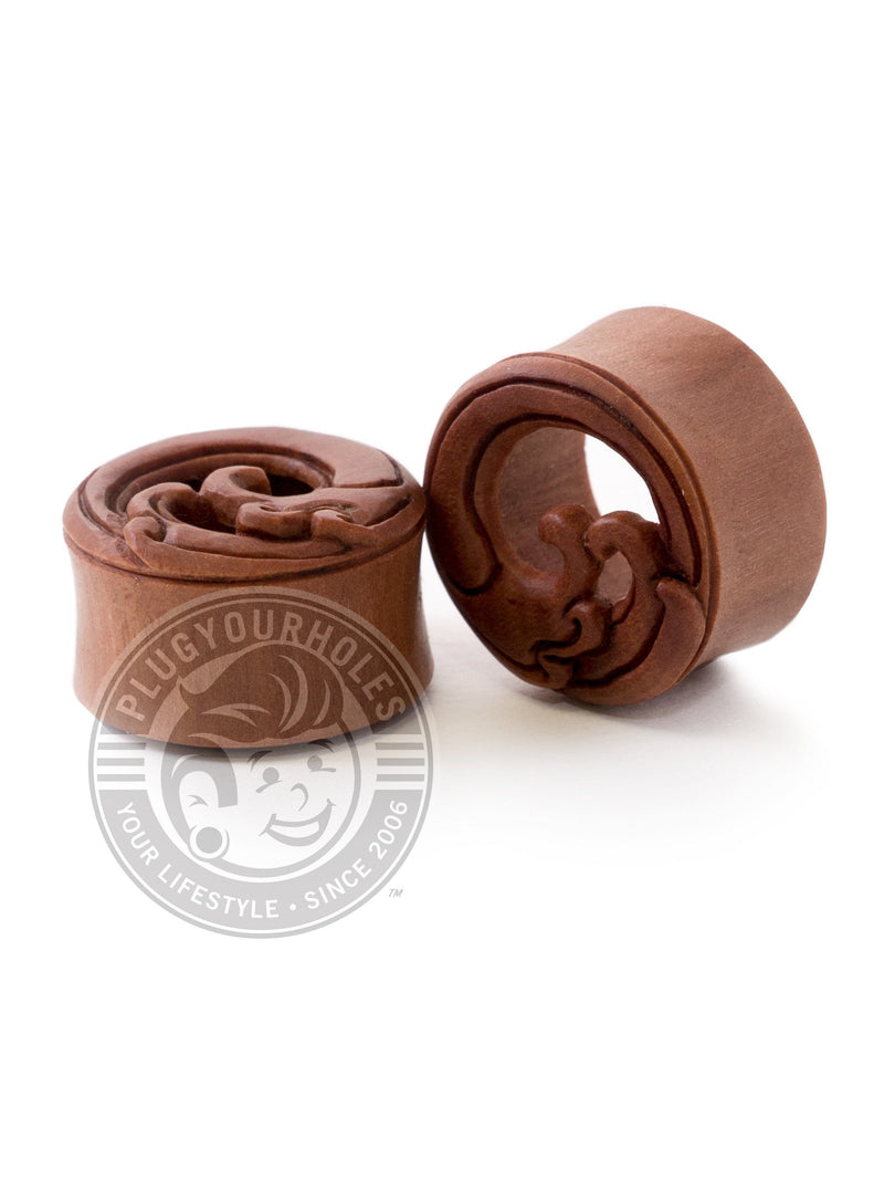 Ripcurl Wave Carved Sawo Wood Tunnels