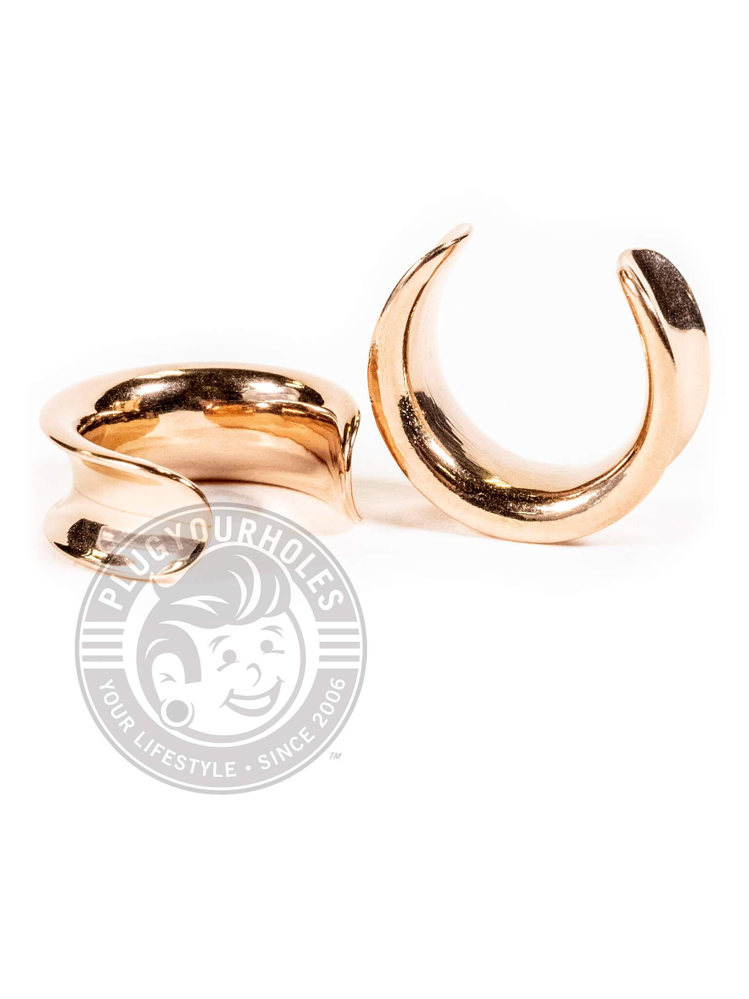 Rose Gold Crescent Steel Saddles