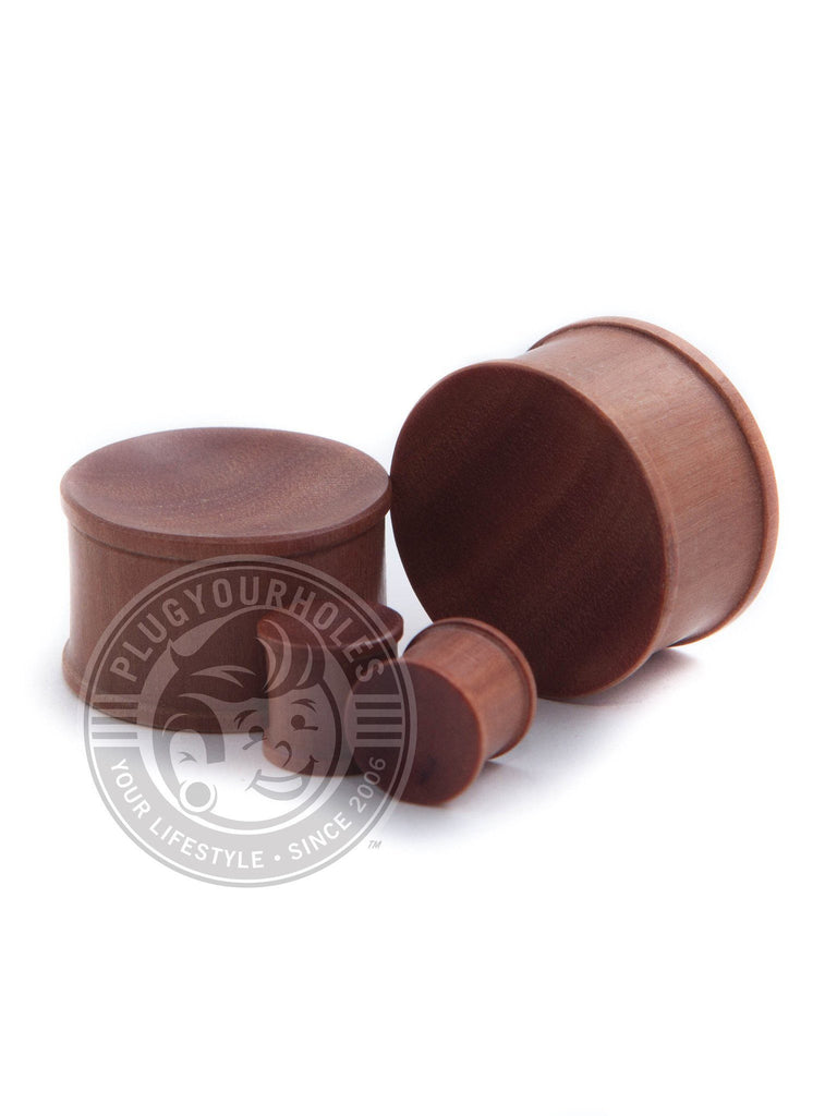 Saba Wood Concave Plugs