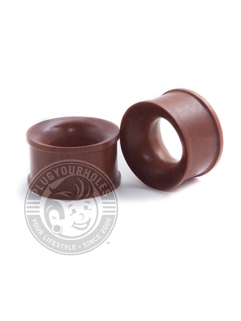 Saba Wood Concave Tunnels - Plugyourholes.com