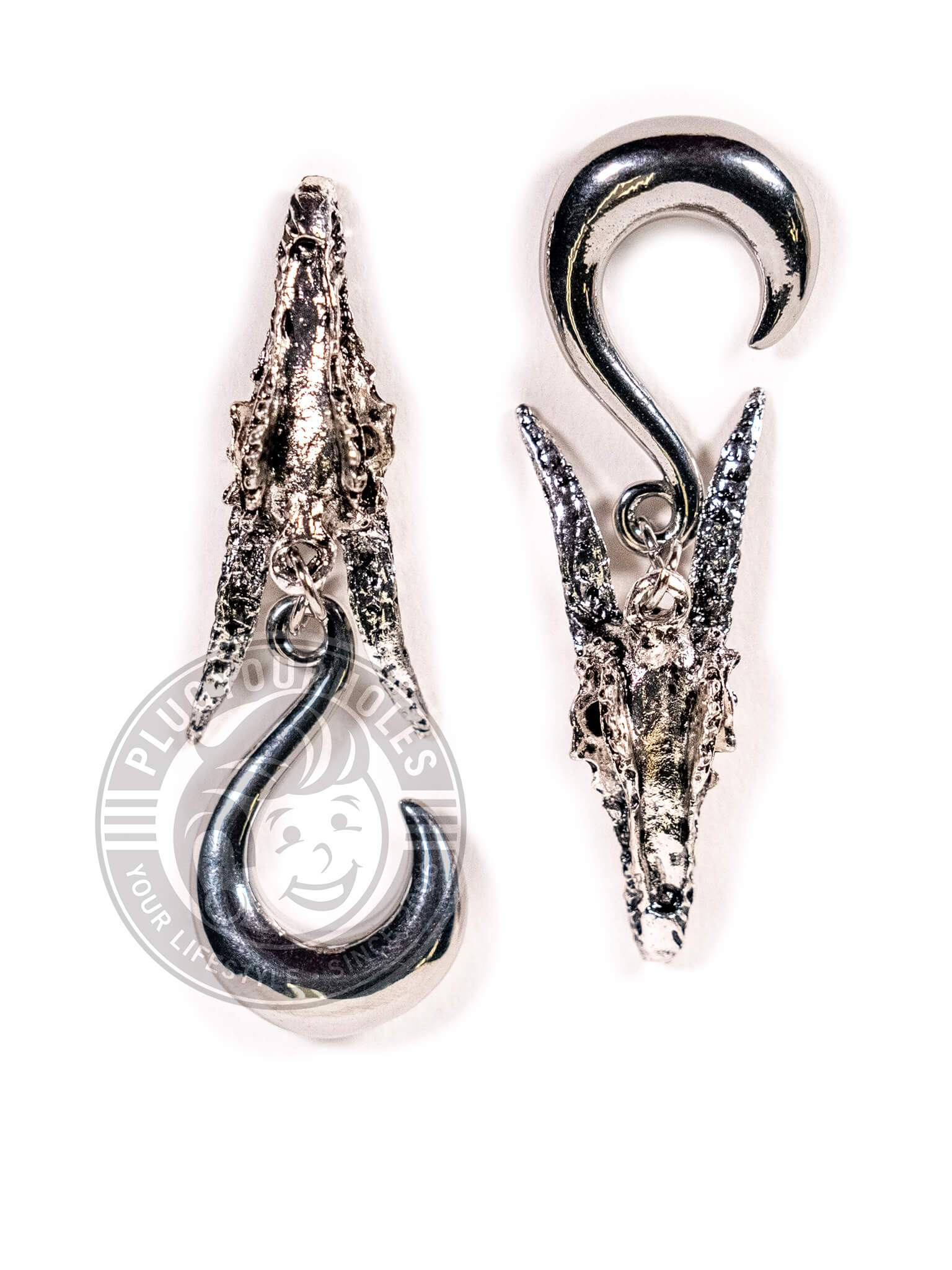 Dragon Head Steel Curled Hook Hangers