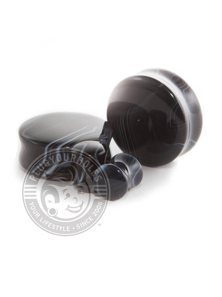 Smoke Agate Stone Plugs