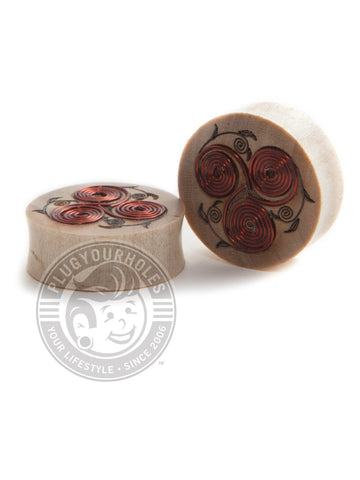 Copper Wire Spirals Crocodile Wood Plugs - Plugyourholes.com