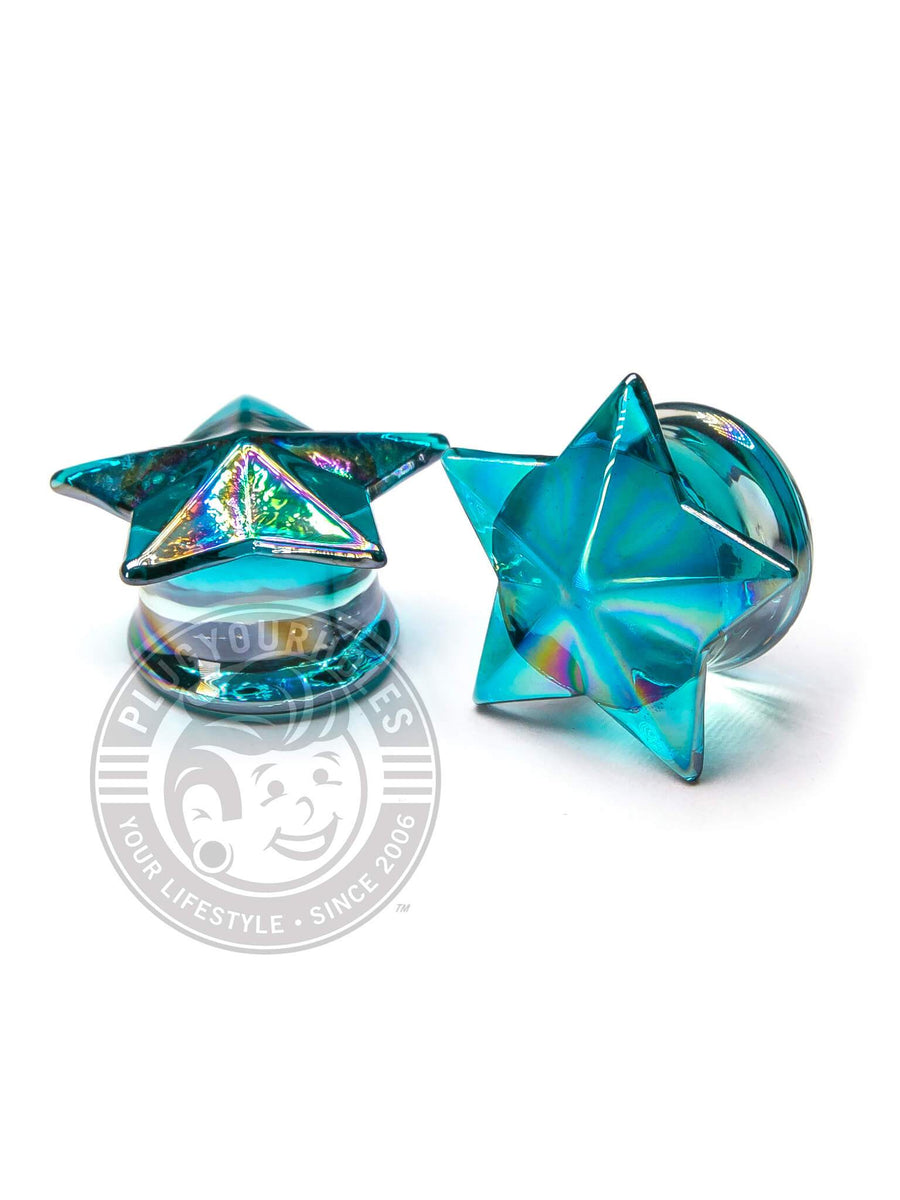 Blue Star Glass Plugs