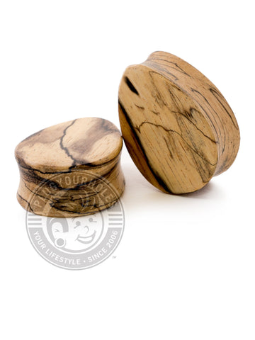 Tear Drop Tamarin Wood Plugs