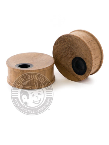 Teak Offset Hole Concave Wood Plugs