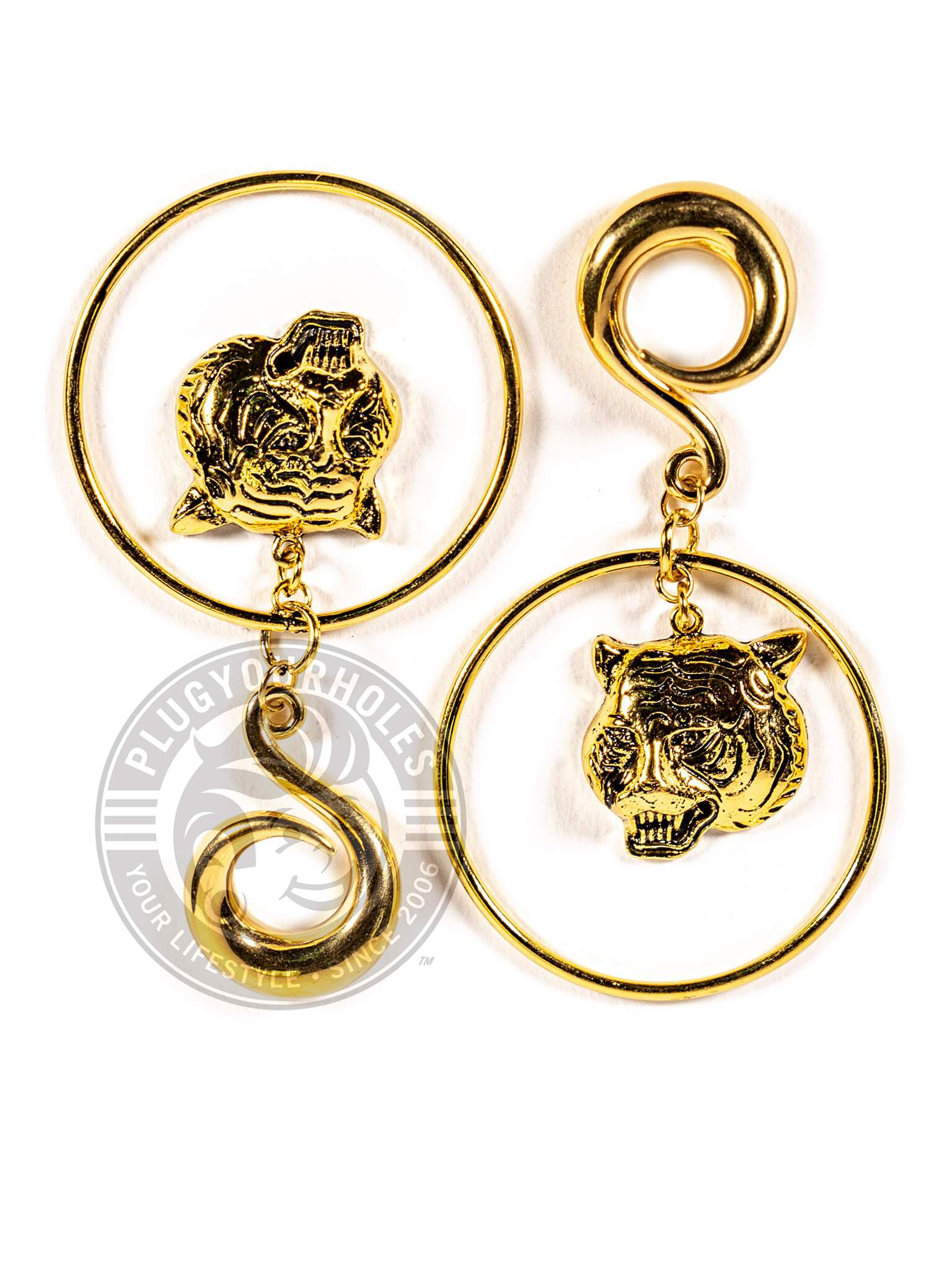 Gold Tiger Hoop Steel Curled Hook Hangers