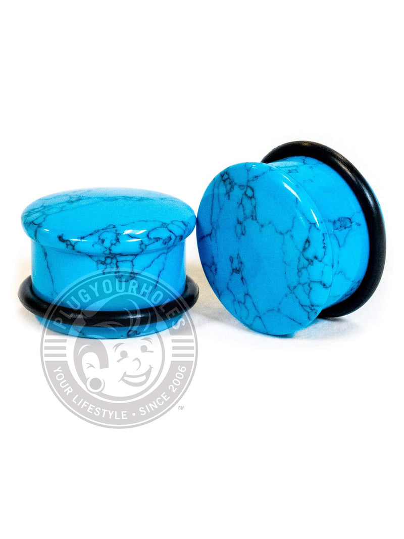 Turquoise Single Flared Stone Plugs