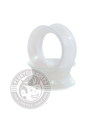 Snow Pearl Silicone Ear Skins - Plugyourholes.com