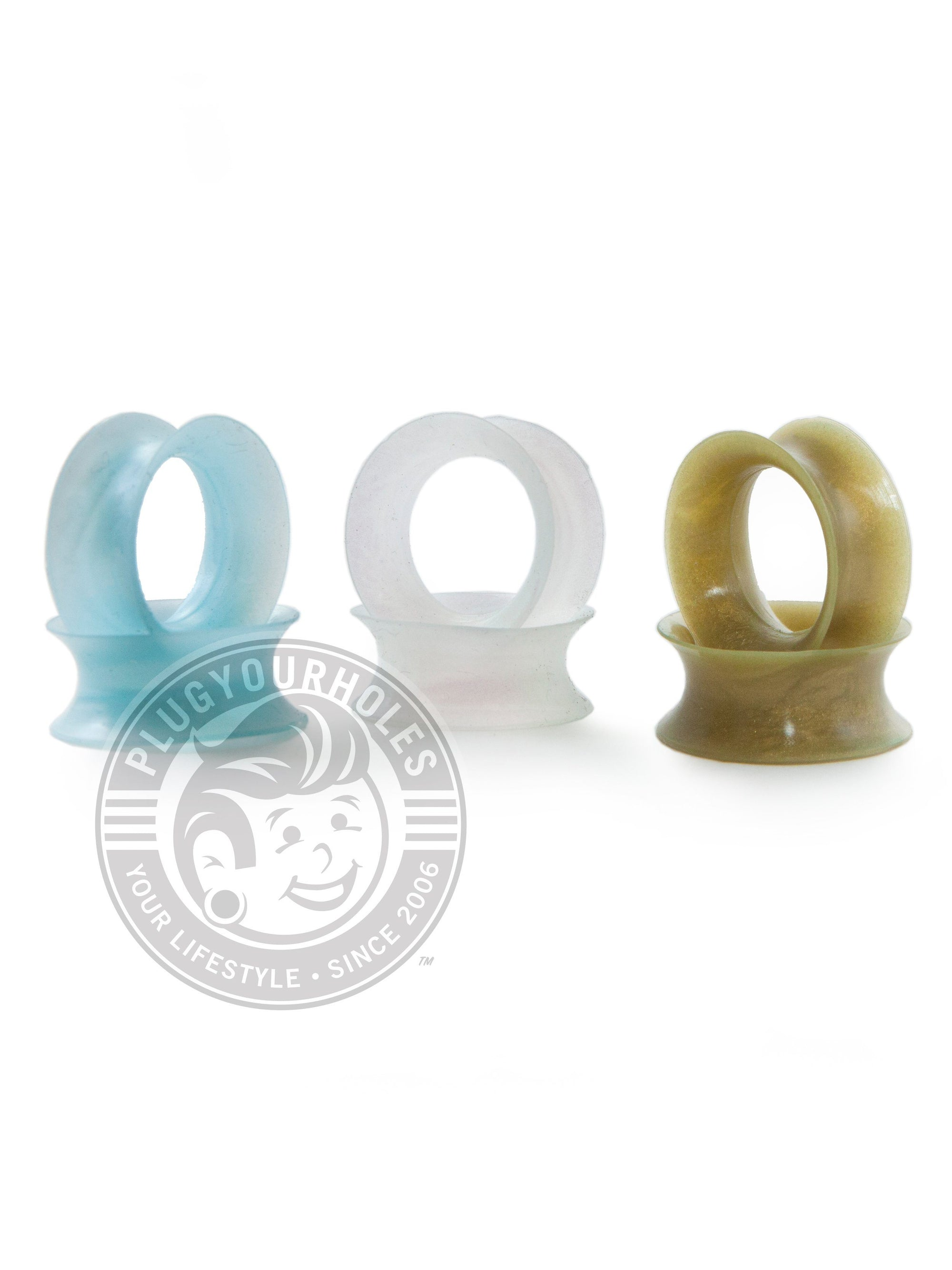 Winter Silicone Ear Skins - 3 Pack [Snow Pearl, Ocean Blue Pearl, Gold Pearl]