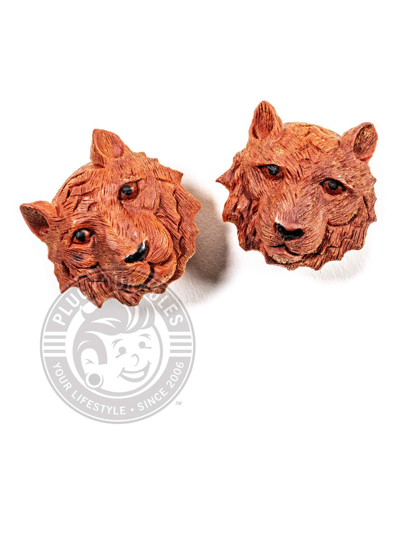 Tiger King Carved Sawo Wood Plugs