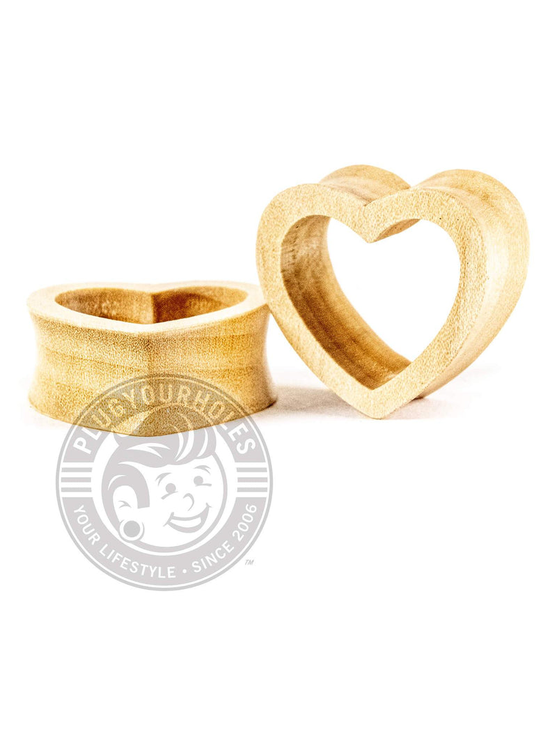 Crocodile Wood Heart Shaped Tunnels