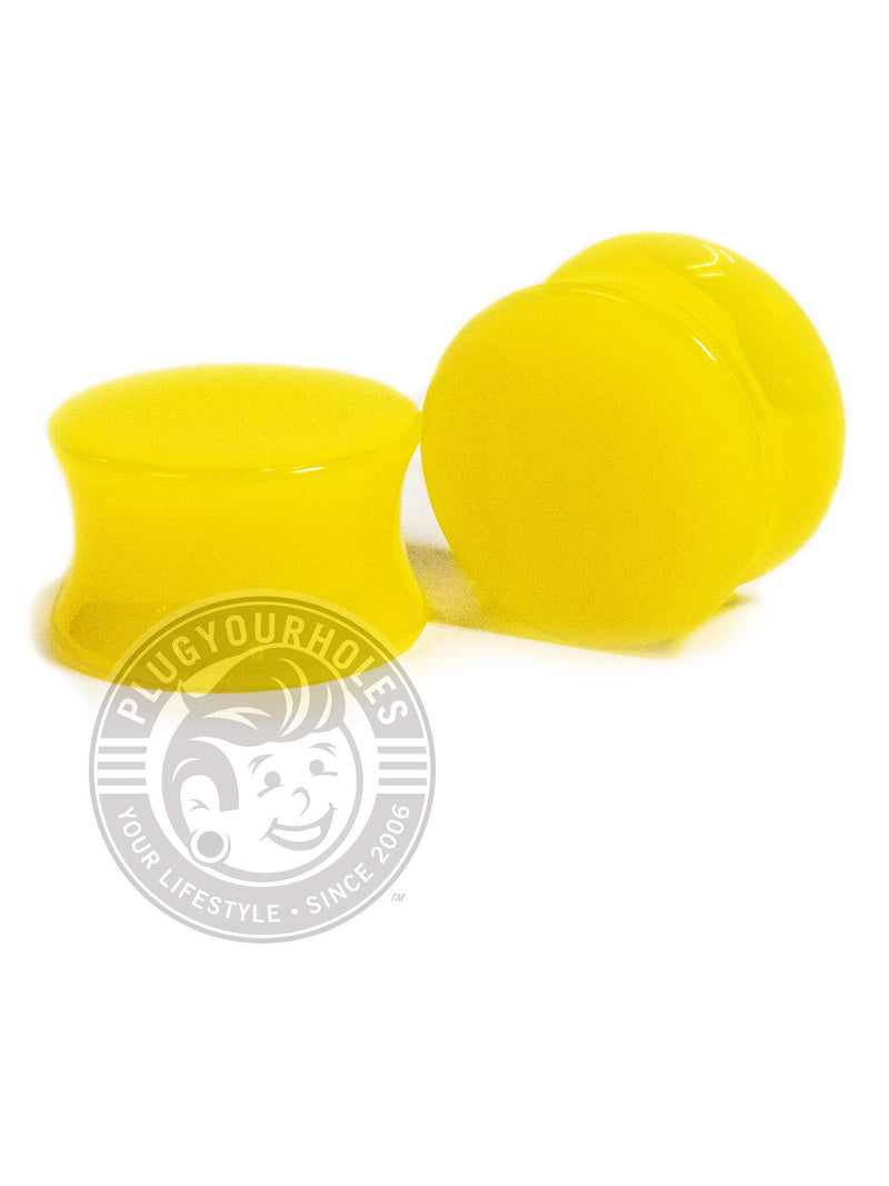 Yellow Acrylic Plugs
